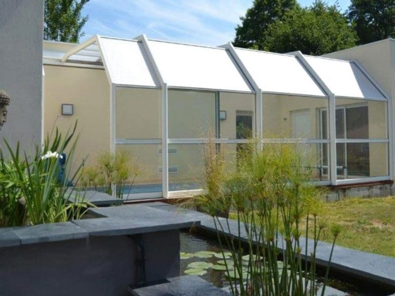 Abri Terrasse aluminium retractable accolé