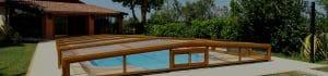 Slide Page Abri Bas structure bois en aluminium