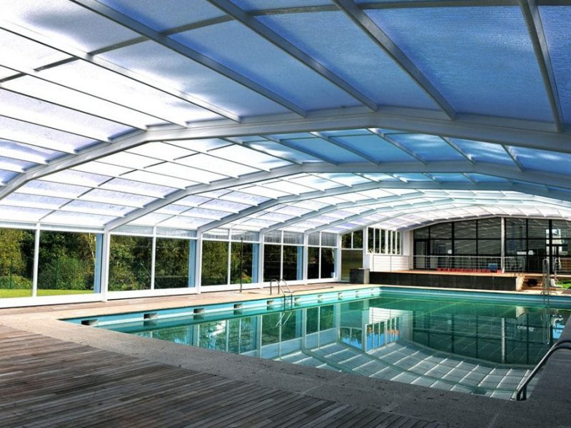 Abri Haut-Piscine ideal pour hotel restaurant terme et piscine collective