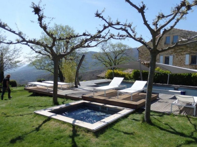 Terrasse-Mobile pour mini piscine