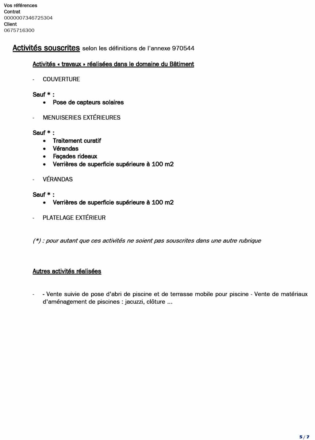 Attestation decennale DCLS du 01-07-2018 au 01-07 valide