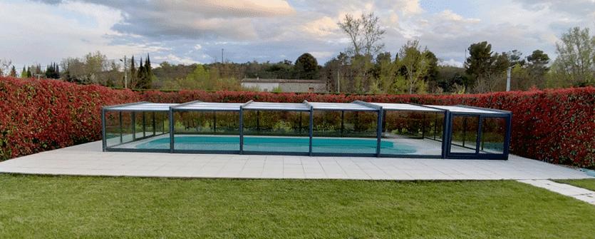 Abri en verre Mi-Haut pour Piscine by Design Concept LS