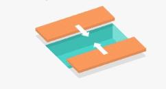 Terrasse mobile coulissement avec deux plateaux sens de la largeur