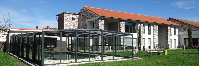 Abri en verre pour piscine de Design Concept LS (DCLS)