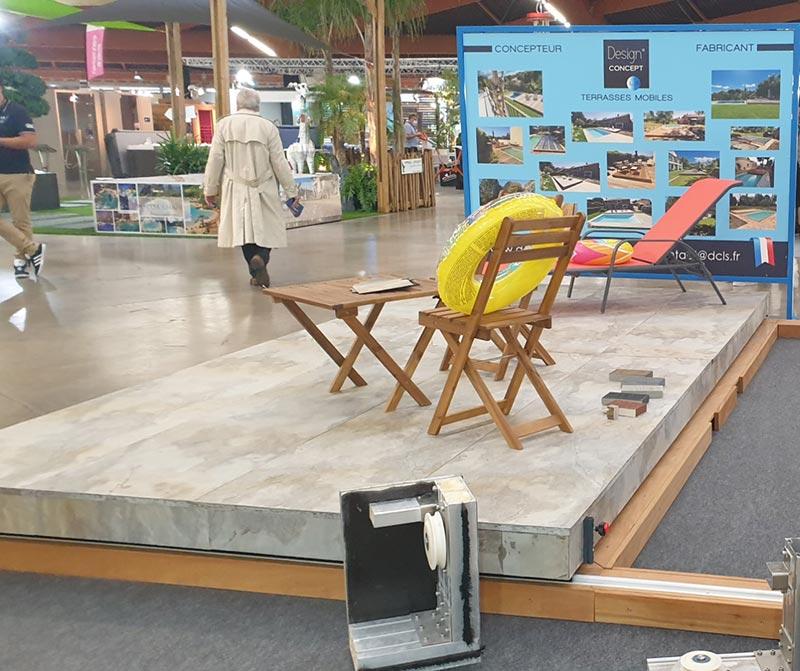 foire expo de Perpignan 2020 - terrasse mobile en feuille de pierre