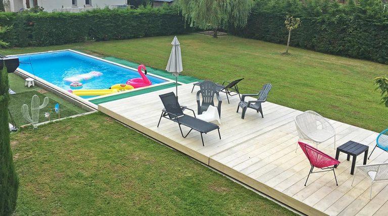 Terrasse mobile DCLS - normes de sécurité respectées pour cette couverture de piscine