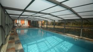 abri verre haut de piscine, gamme prestige de Design Concept LS