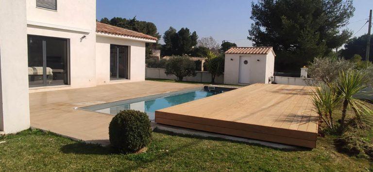 terrasse coulissante pour piscine par DCLS