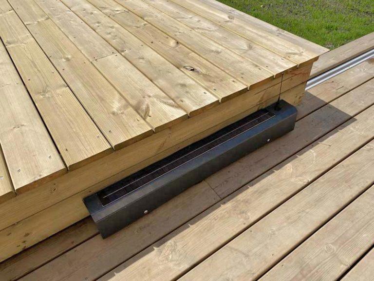 motorisation solaire de la terrasse mobile installée à Arcachon