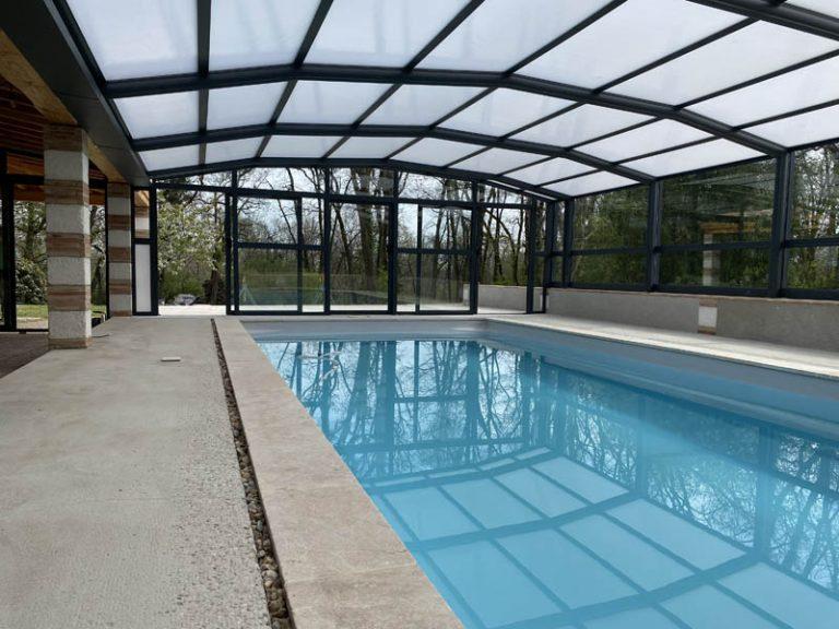 abri de piscine adossé, Occitanie, Gers