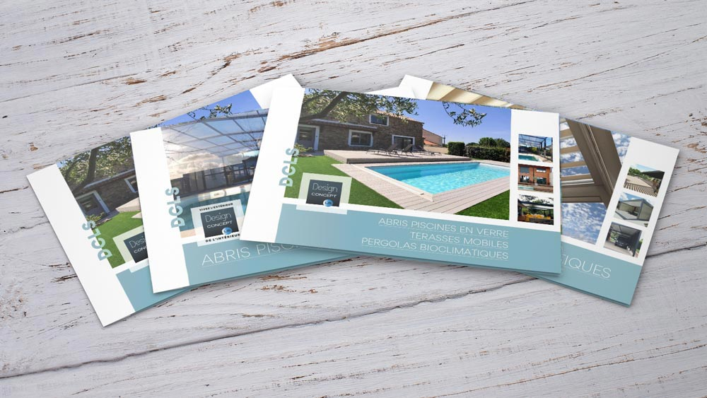 Catalogues design concept ls: abris de piscine en verre, terrasses mobiles, pergolas